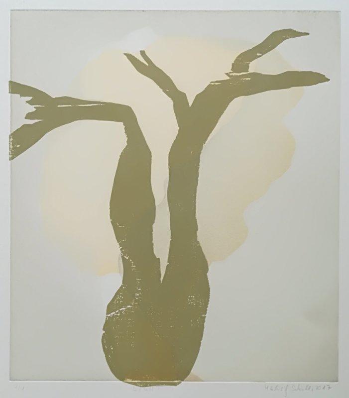 Licht No. 5, Holzschnitt auf Radierung, 1 Ex., 32 x 36, 2017