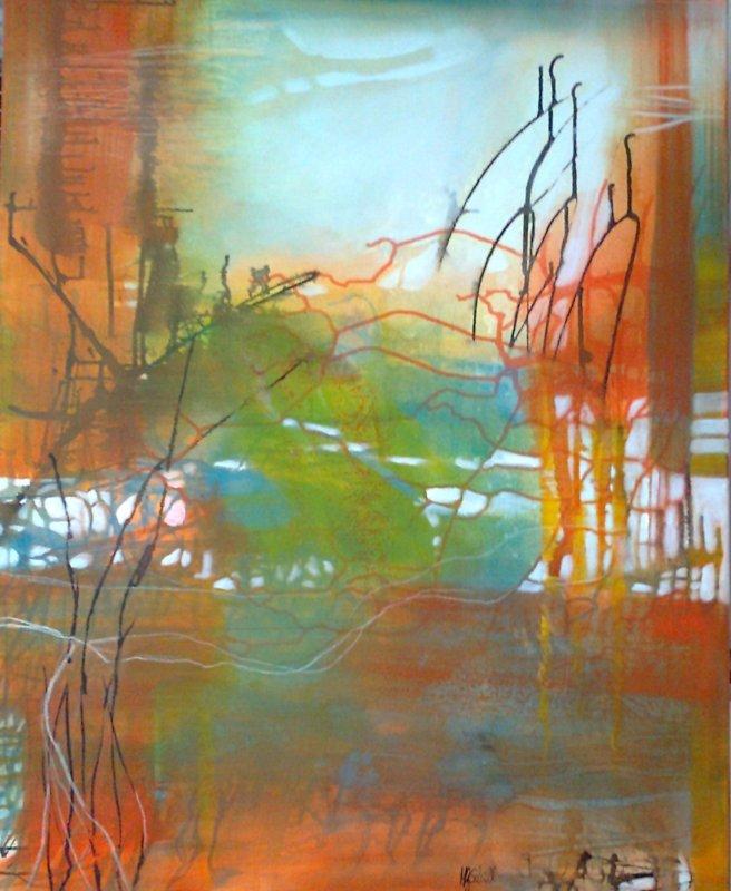 Richtungswechsel, Acryl-Misch, 100 x 80, 2013