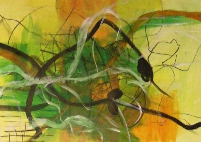 Frühlingsboten, Acryl, 60 x 80, 2010